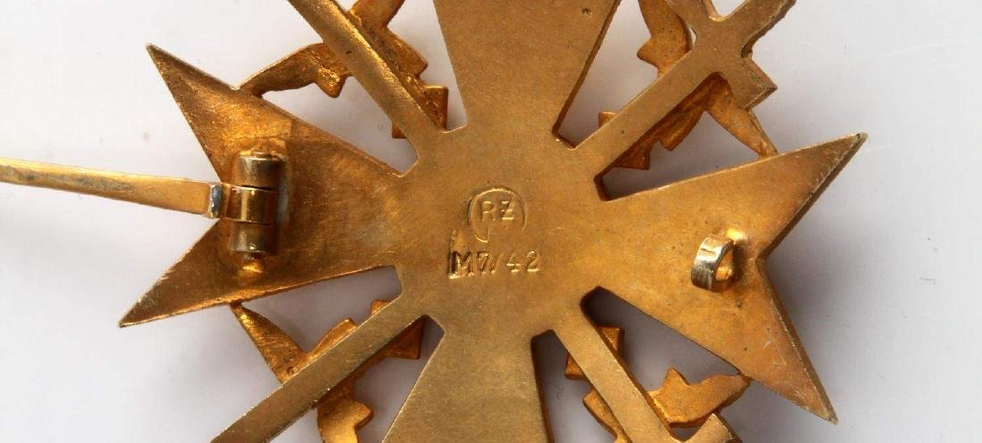 WWII GERMAN THIRD REICH GOLD SPANISH CROSS IN CASE - 4