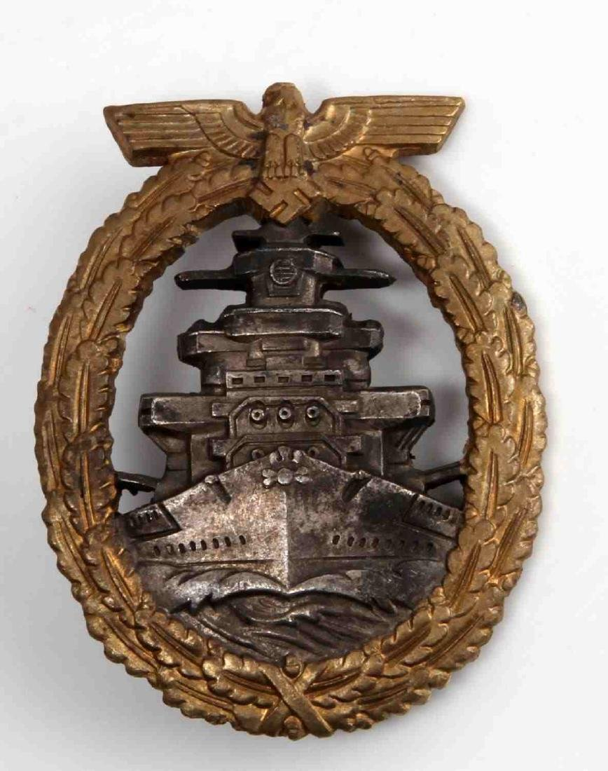 WWII GERMAN THIRD REICH NAVY HIGH SEAS FLEET BADGE