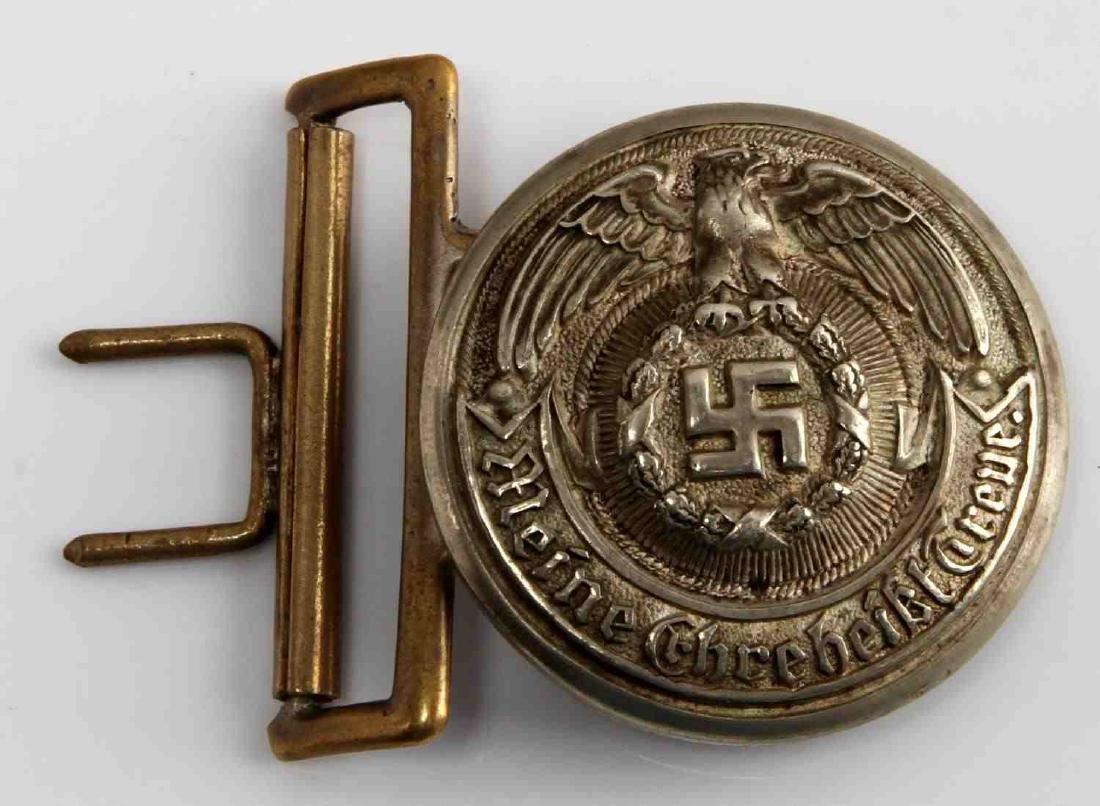 WWII GERMAN THIRD REICH SS OFFICER BELT BUCKLE