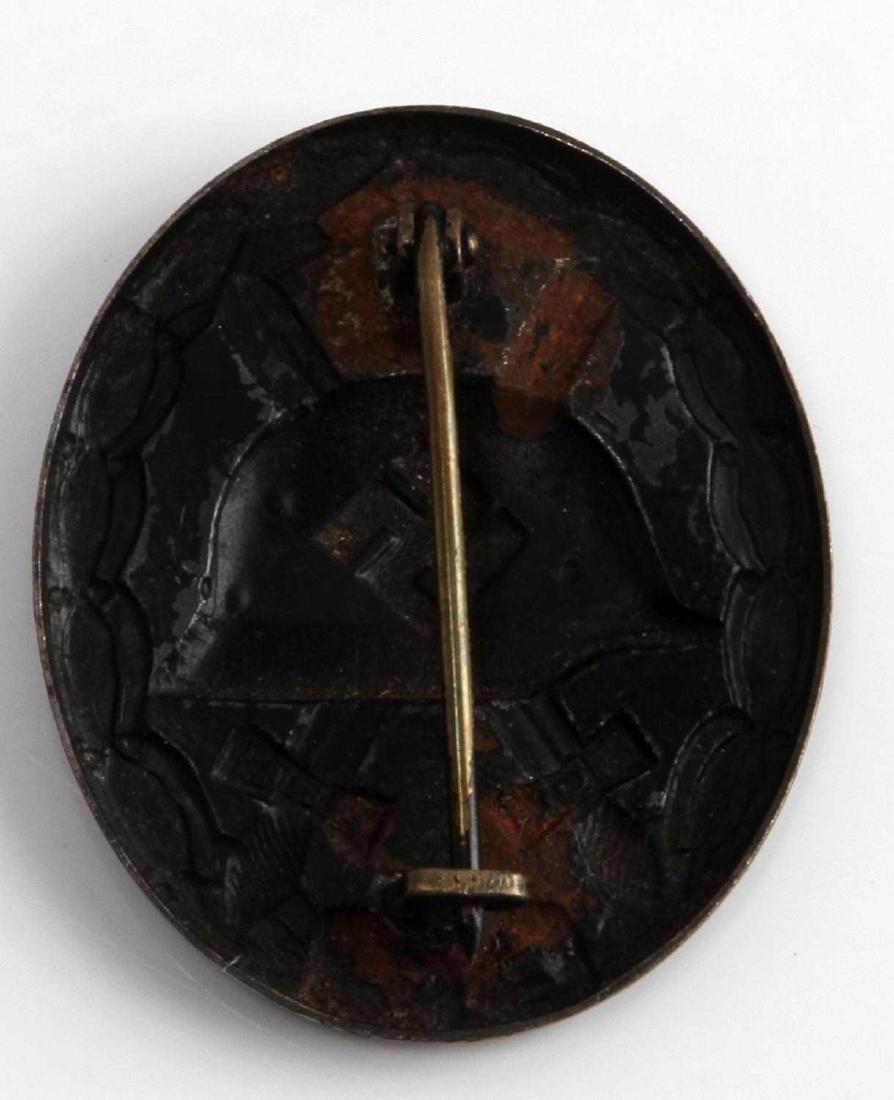 WWII GERMAN THIRD REICH BLACK WOUND BADGE - 2