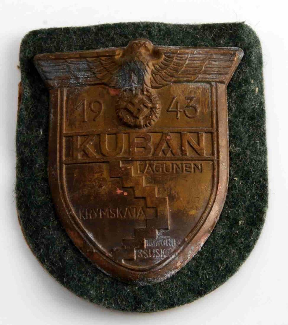 WWII GERMAN THIRD REICH 1943 KUBAN SLEEVE SHIELD