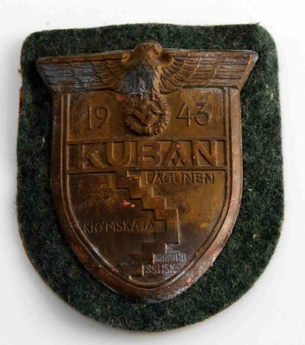 WWII GERMAN THIRD REICH 1943 KUBAN SLEEVE SHIELD
