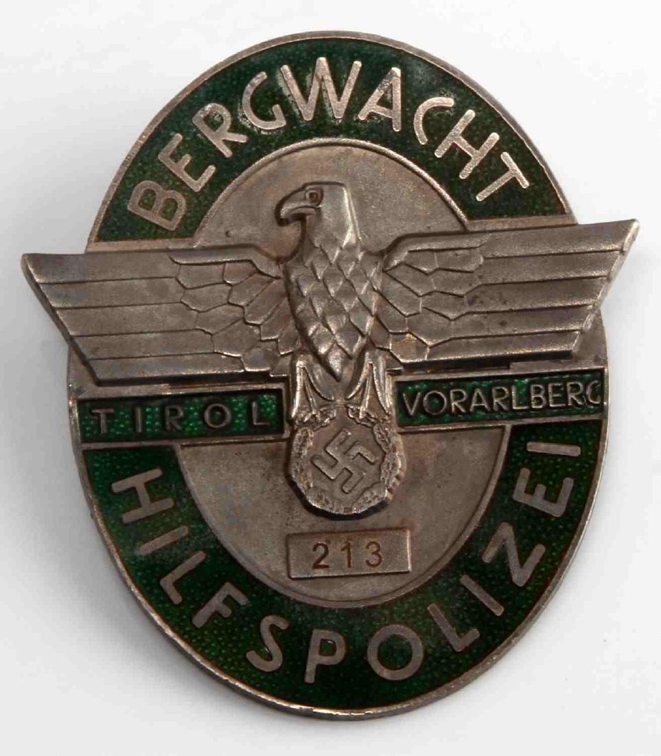 WWII GERMAN THIRD REICH HILFSPOLIZEI POLICE BADGE