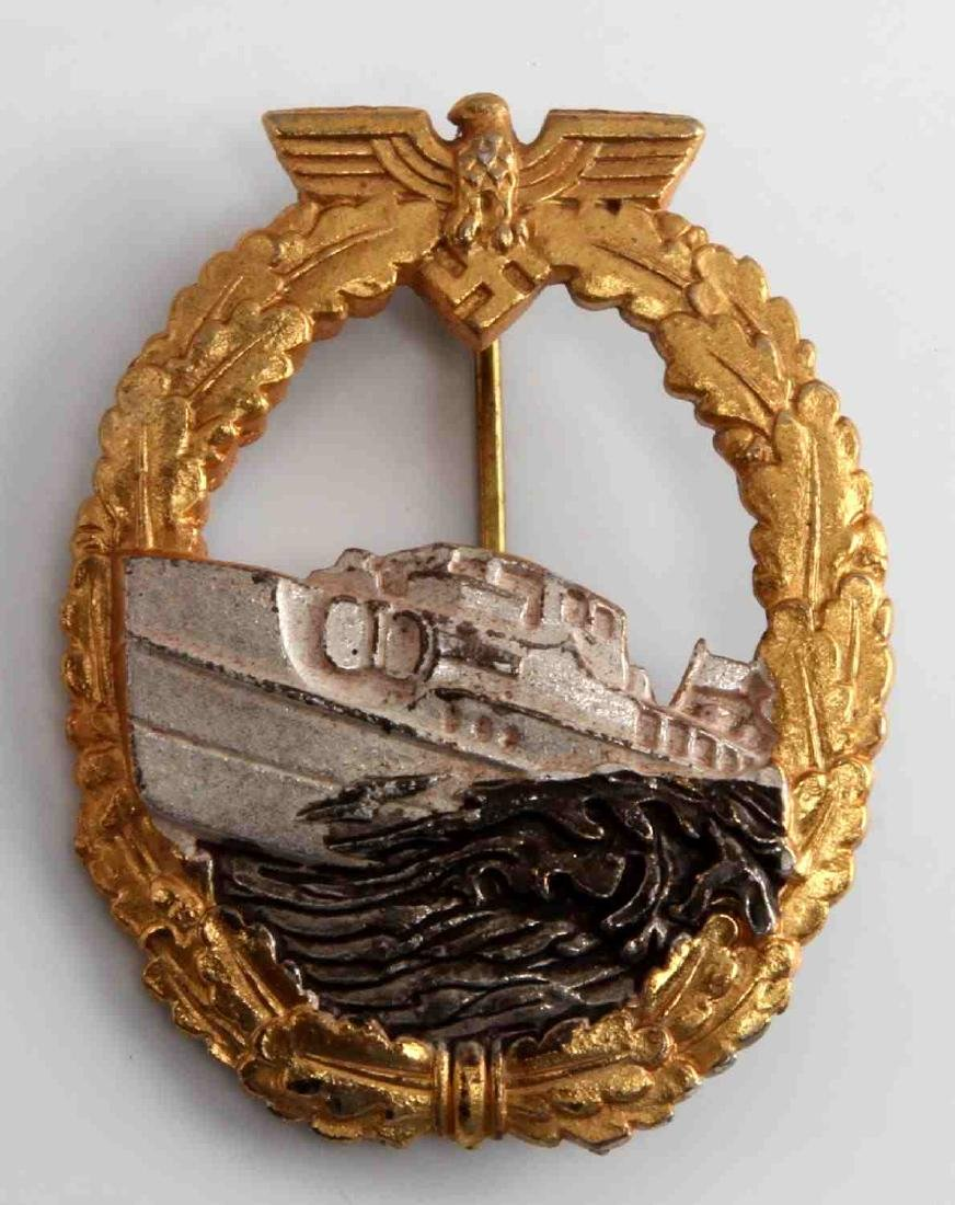 WWII GERMAN THIRD REICH 1ST MODEL E BOAT BADGE