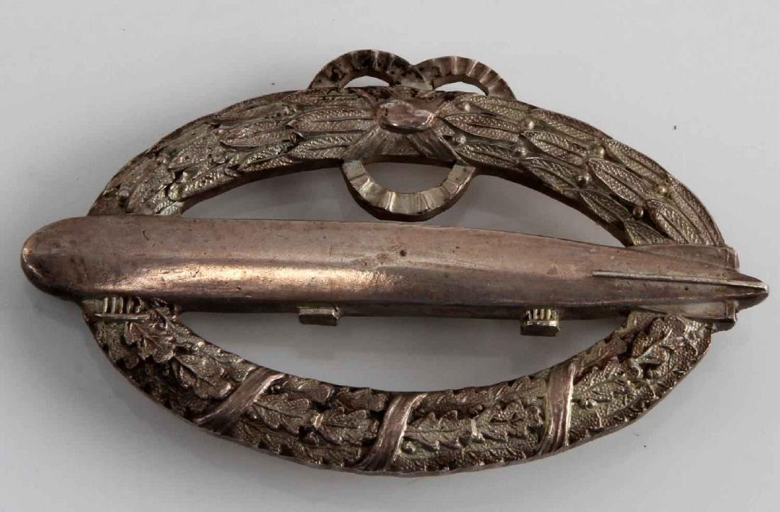 IMPERIAL GERMAN WWII ARMY ZEPPELIN AIR SHIP BADGE