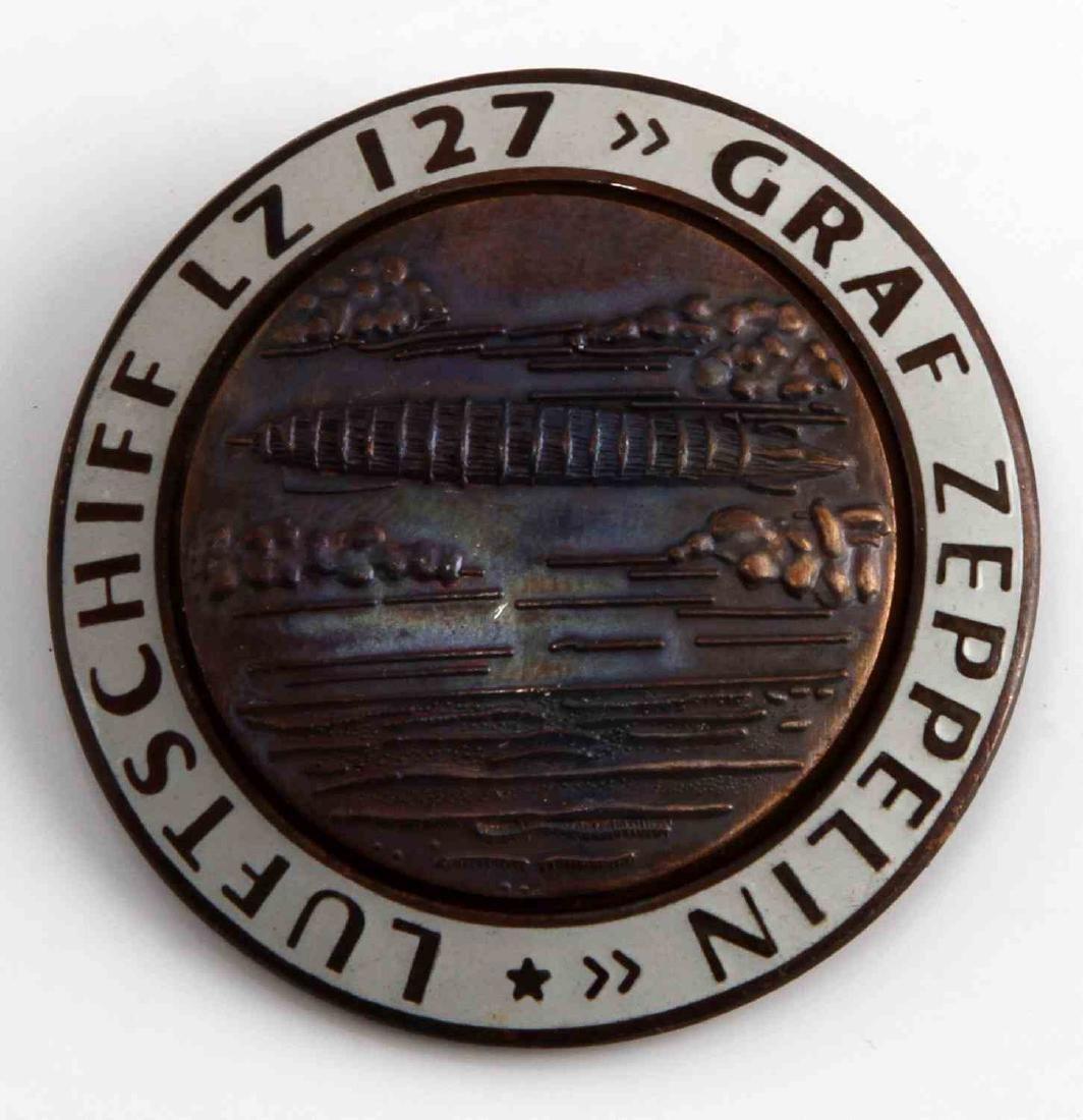 WWII GERMAN THIRD REICH GRAF ZEPPELIN TOUR BADGE