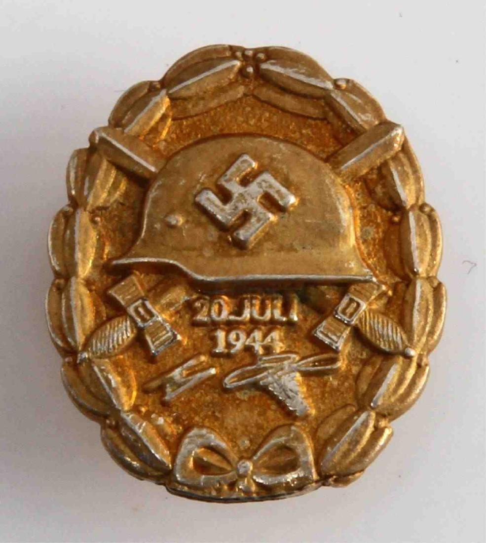 WWII GERMAN 3RD REICH JULY PLOT WOUND BADGE LAPEL