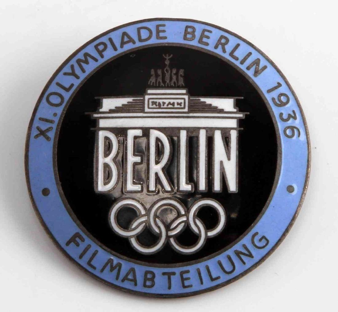 WWII GERMAN THIRD REICH OLYMPIC FILM MAKER BADGE