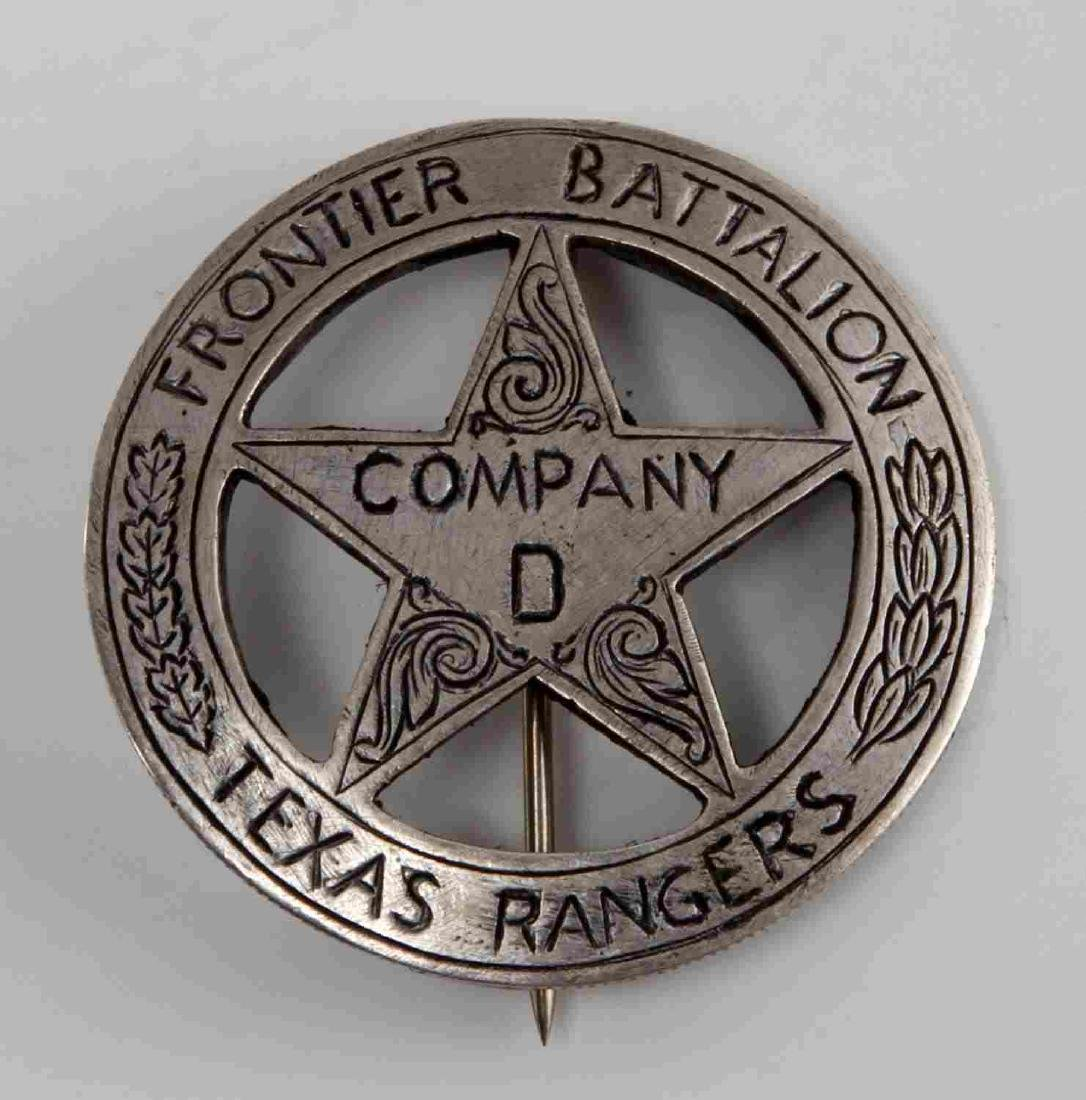 OLD WEST FRONTIER BATALLION TEXAS RANGERS BADGE