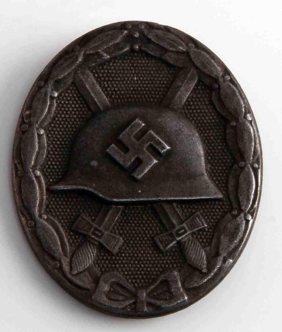 WWII GERMAN THIRD REICH SILVER WOUND BADGE