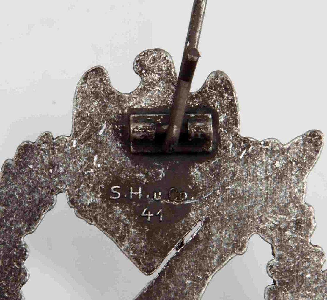 GERMAN WWII SILVER ARMY INFANTRY ASSAULT BADGE - 3