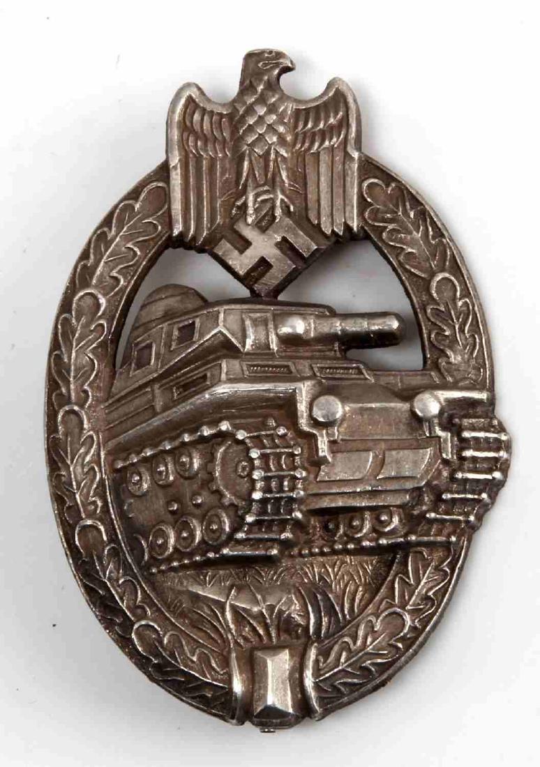 WWII GERMAN PANZER ASSAULT BADGE ADOLF SCHOLZE