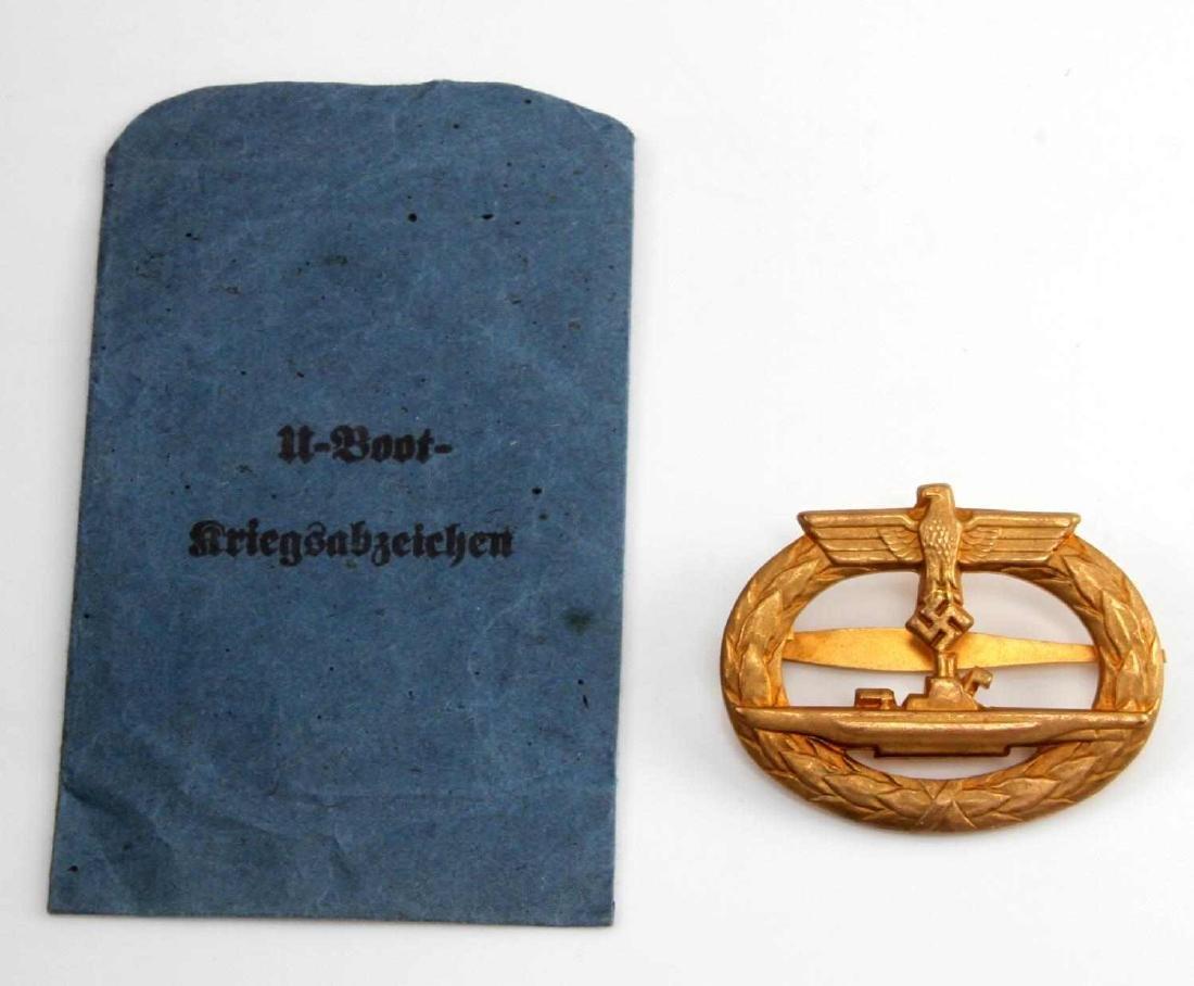 GERMAN WWII NAVAL KREIGSMARINE U BOAT SUB BADGE