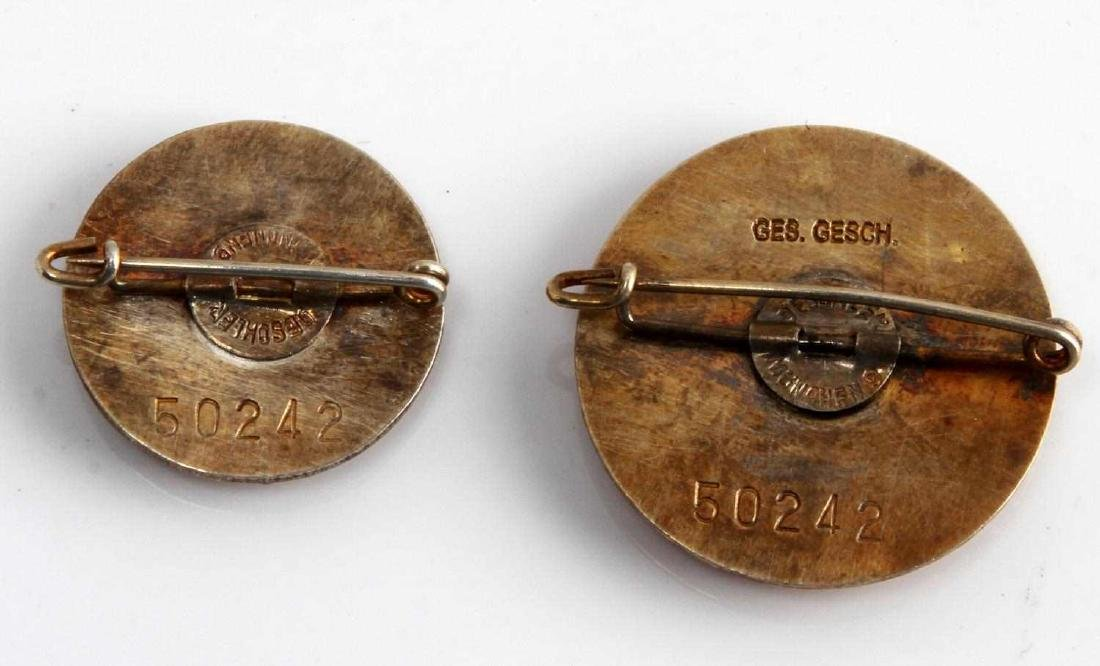 GERMAN WWII THIRD REICH NSDAP GOLDEN PARTY BADGES - 2