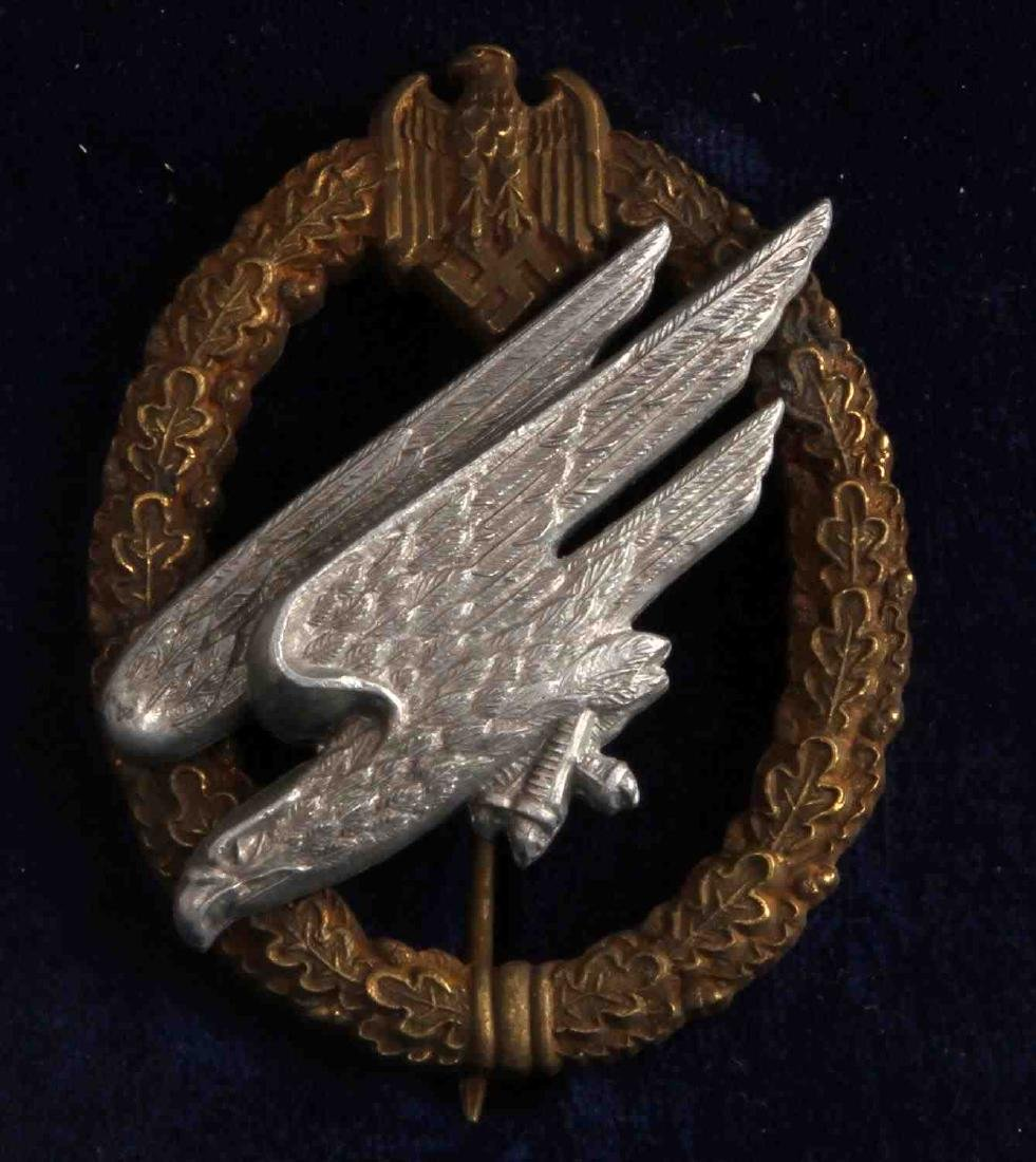 WWII GERMAN THIRD REICH FALLSCHIRMJAGER JUMP BADGE - 2
