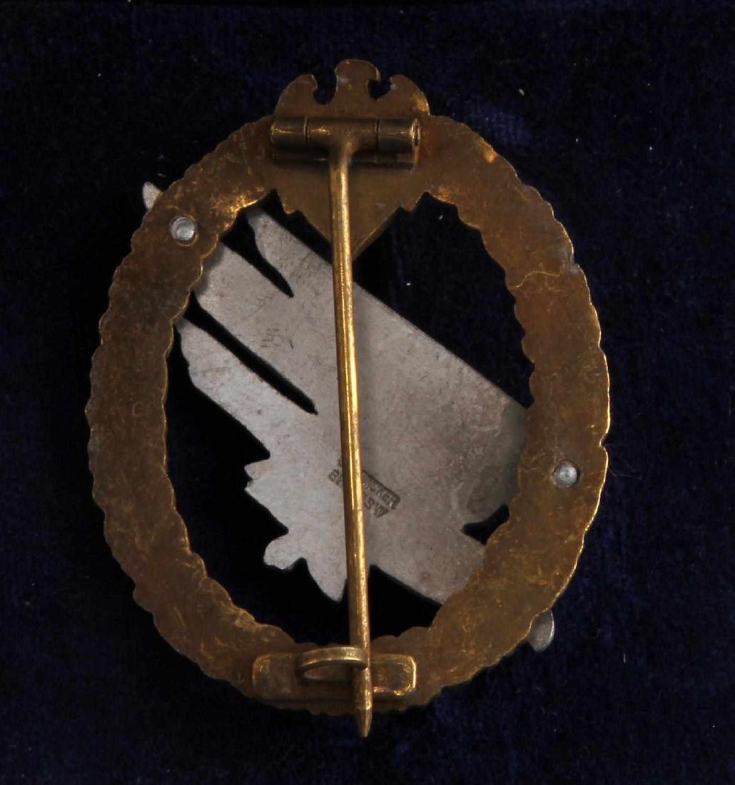 WWII GERMAN THIRD REICH FALLSCHIRMJAGER JUMP BADGE - 3