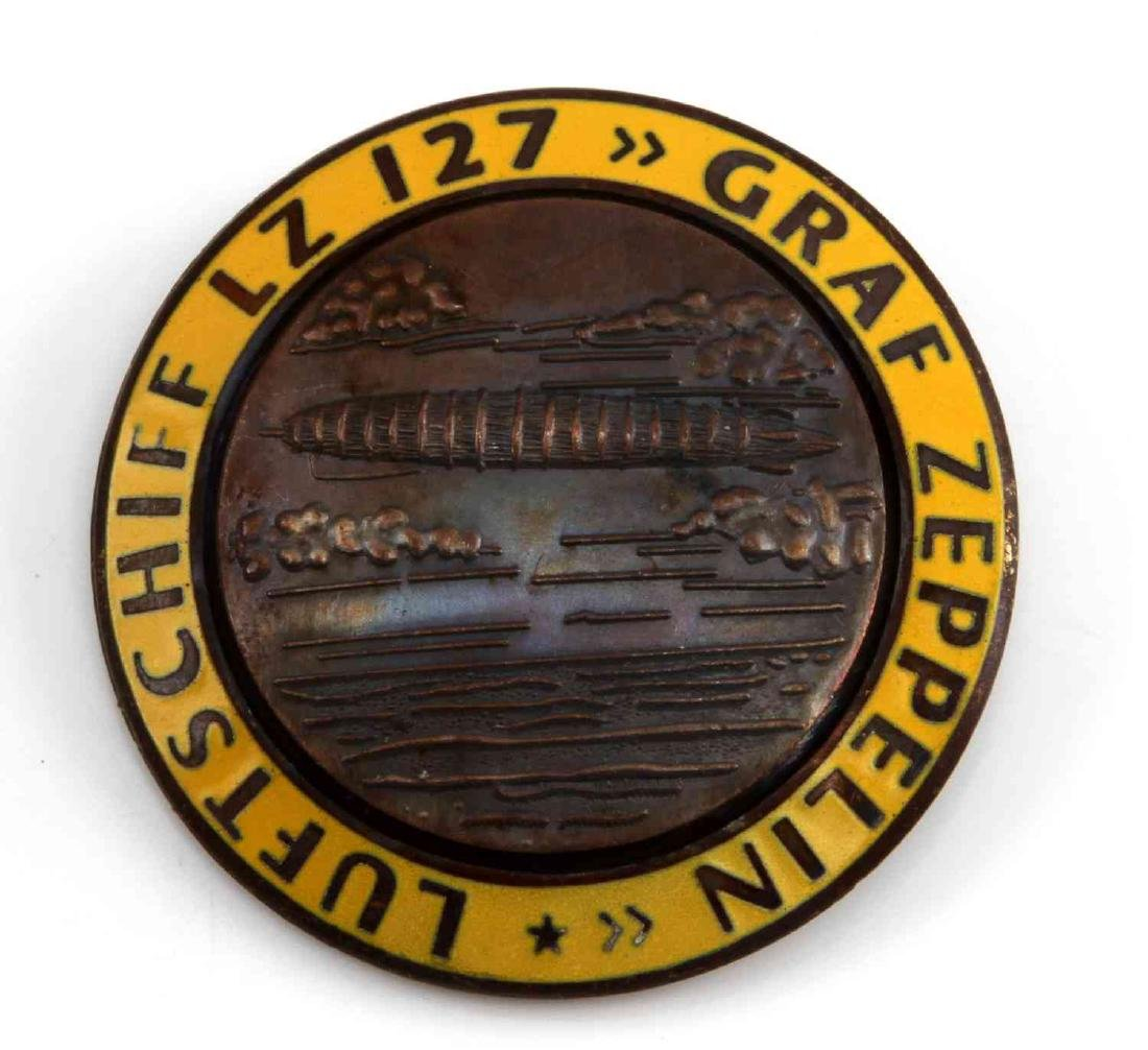 GERMAN WWII GRAF ZEPPELIN LZ 127 AIR SHIP BADGE