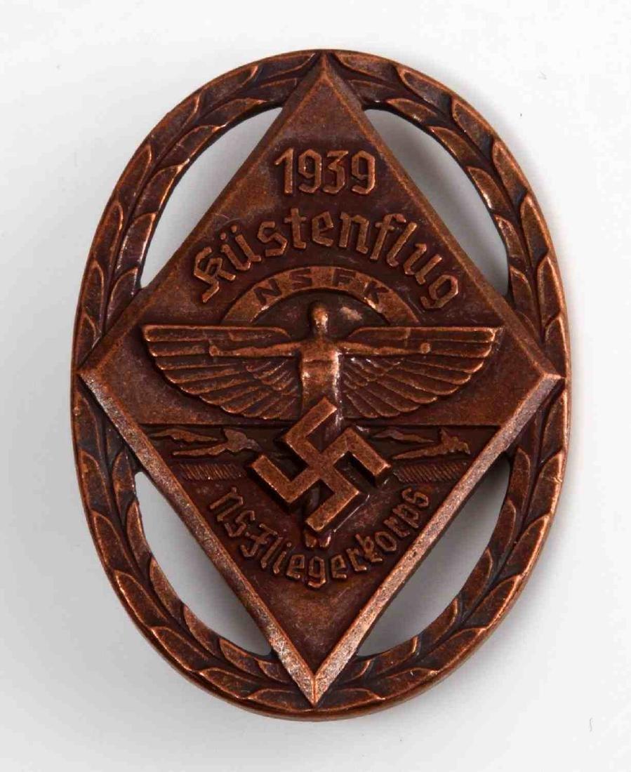 GERMAN 1939 NSFK KUSTENFLUG GLIDER KORPS BADGE