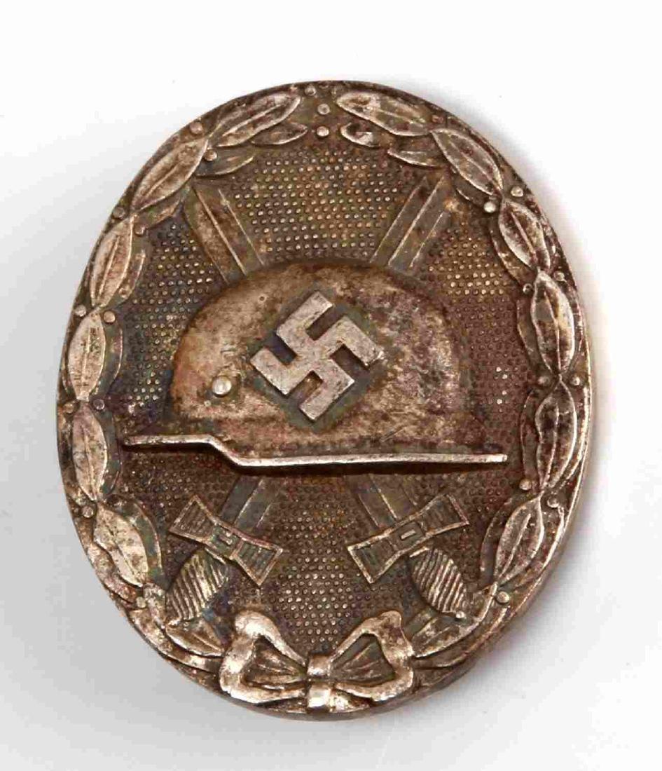 WWII GERMAN THIRD REICH SILVER COMBAT WOUND BADGE