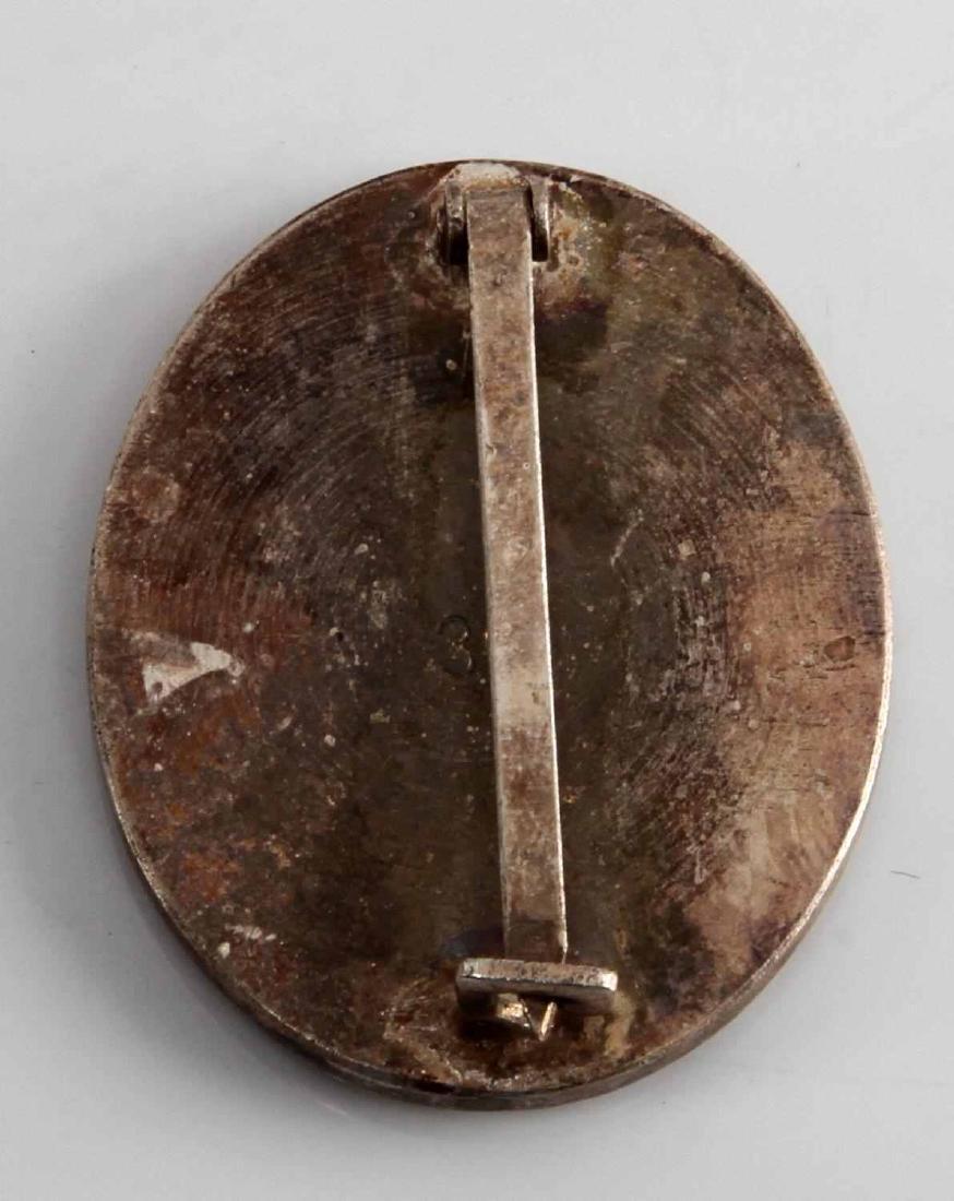 WWII GERMAN THIRD REICH SILVER COMBAT WOUND BADGE - 2