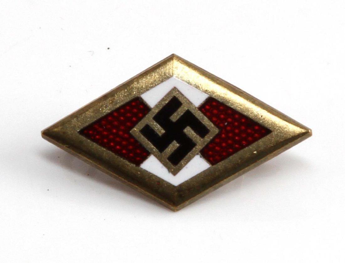 GERMAN WWII GOLDEN HITLER YOUTH HJ HONOR BADGE