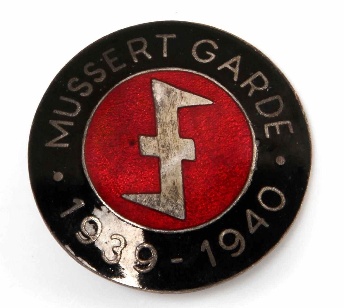 GERMAN WWII 3RD RCH 1939 1940 MUSSERT GARDE BADGE