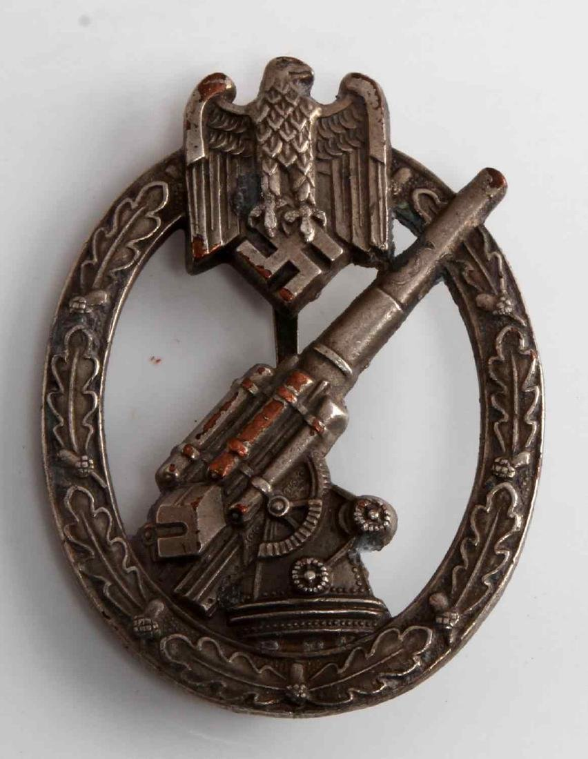 GERMAN WWII THIRD REICH ARMY FLAK ARTILLERY BADGE