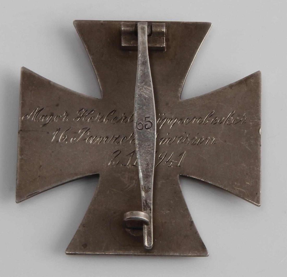 GERMAN WWII TR ARMY PANZER 1ST CLASS IRON CROSS - 2