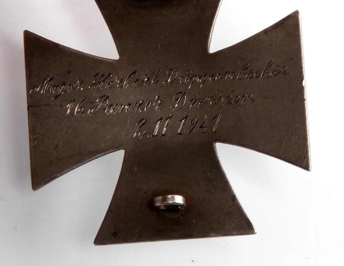 GERMAN WWII TR ARMY PANZER 1ST CLASS IRON CROSS - 3