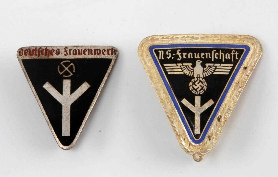 GERMAN WWII NS FRAUENSCHAFT & FRAUENWERK BADGE LOT
