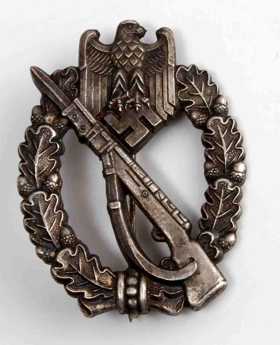 GERMAN WWII THIRD REICH SILVER ASSAULT BADGE