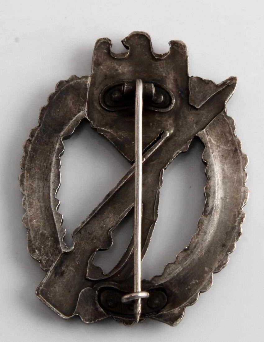 GERMAN WWII THIRD REICH SILVER ASSAULT BADGE - 2