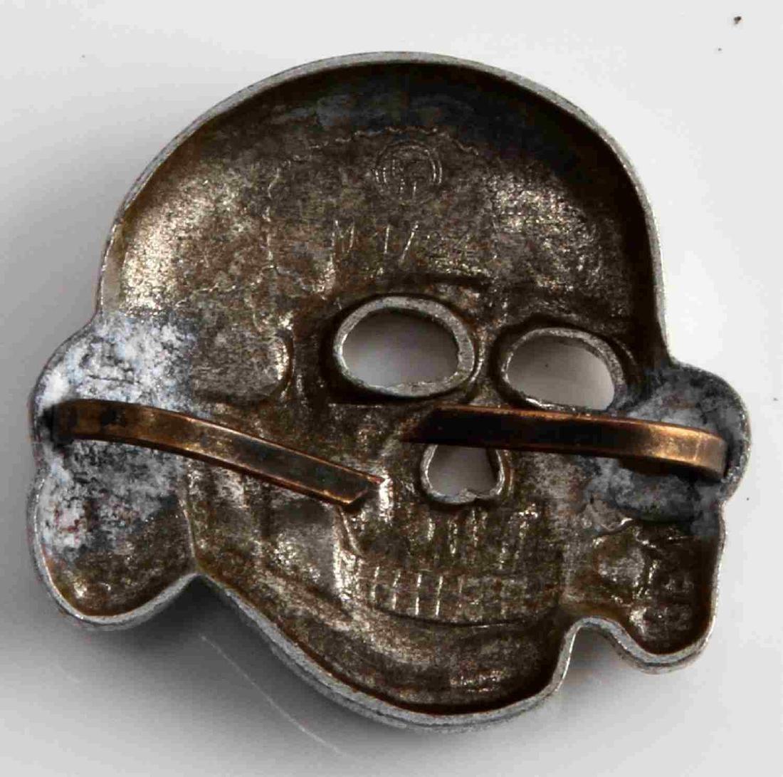 GERMAN WAFFEN SS SCHUTZ STAFFEL VISOR CAP SKULL - 2