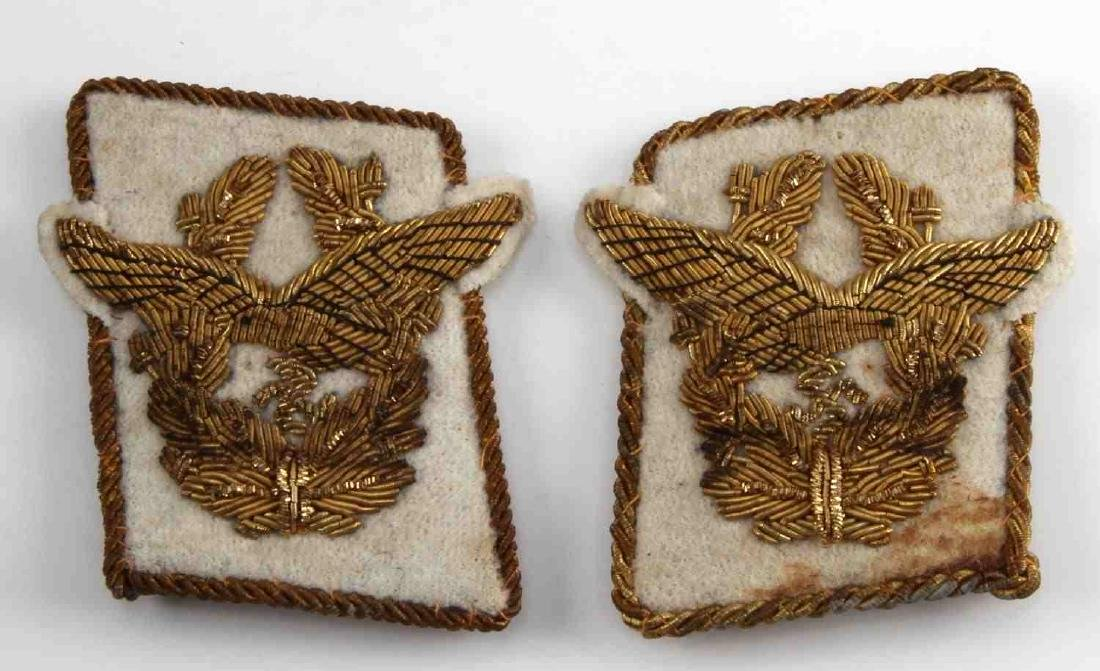 2 GERMAN WWII LUFTWAFFE FIELD MARSHAL COLLAR TAB