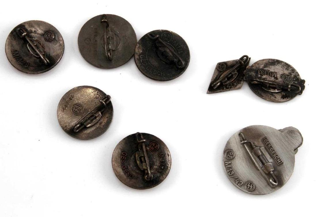 8 GERMAN WWII THIRD REICH ENAMELED PARTY BADGE LOT - 3