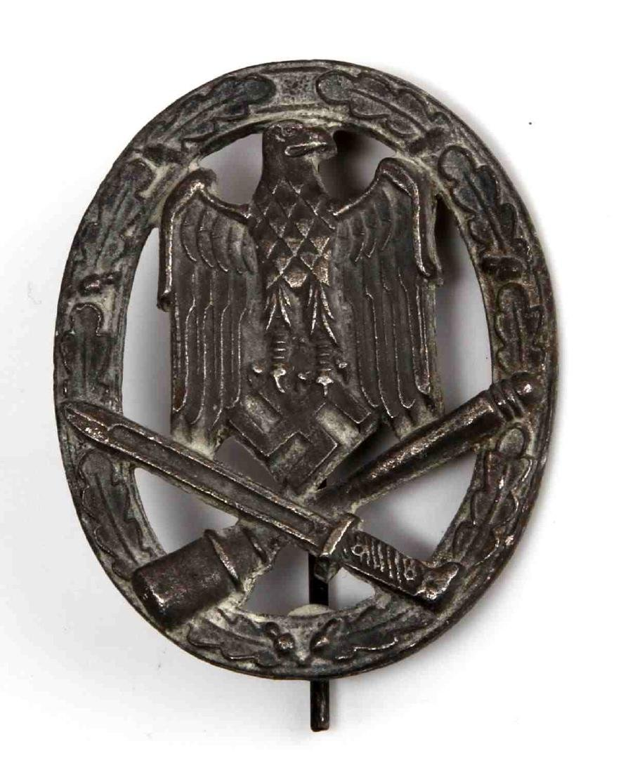 GERMAN WWII ARMY SILVER GENERAL ASSAULT BADGE