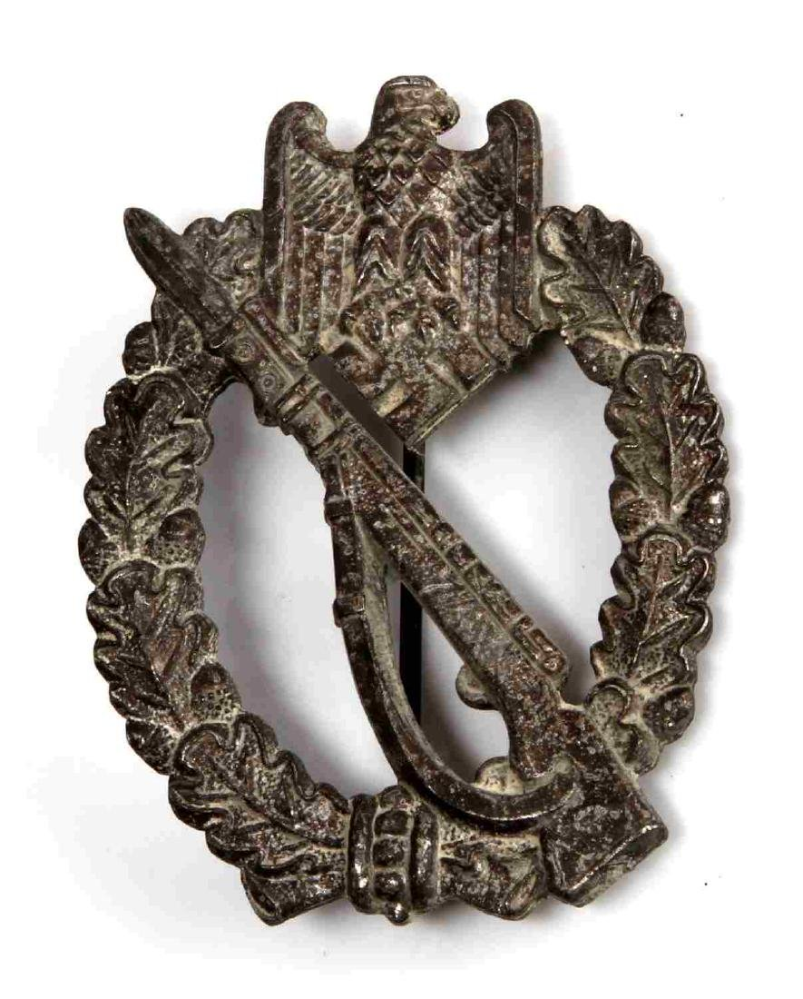 GERMAN WWII ARMY SILVER INFANTRY ASSAULT BADGE