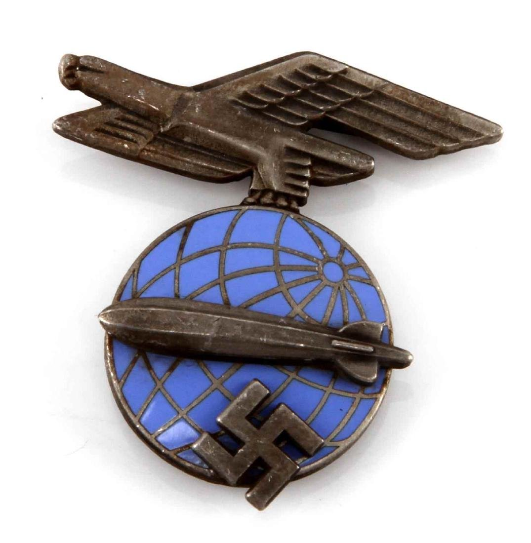 GERMAN WWII ZEPPELIN AIR SHIP VISOR CAP INSIGNIA
