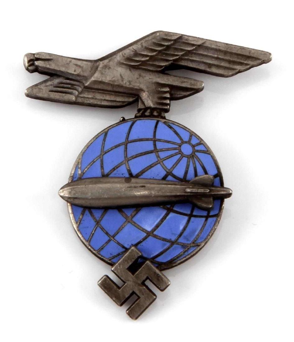 GERMAN WWII ARMY ZEPPELIN AIR SHIP VISOR CAP BADGE
