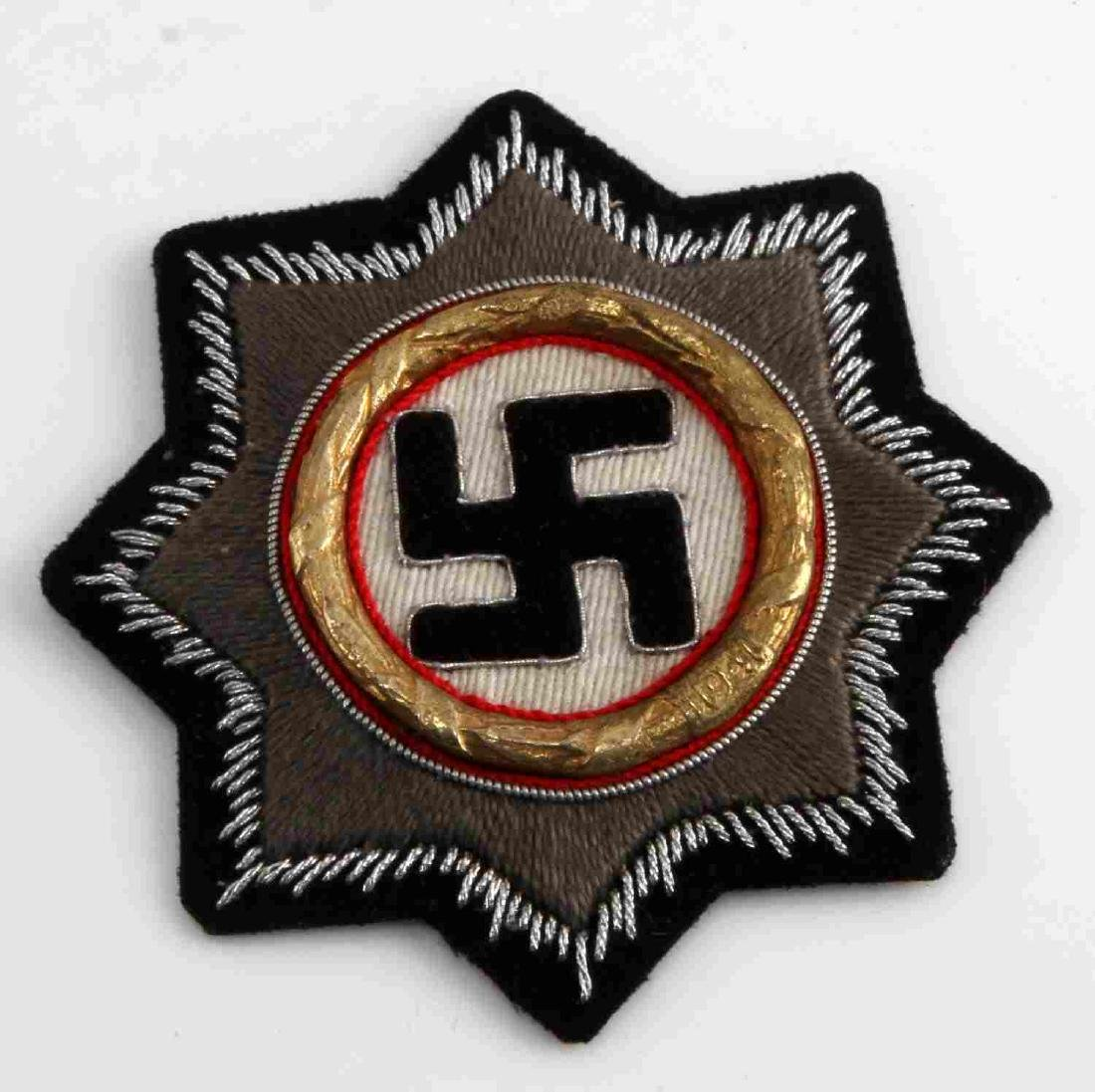 WWII GERMAN THIRD REICH PANZER GERMAN CROSS GOLD