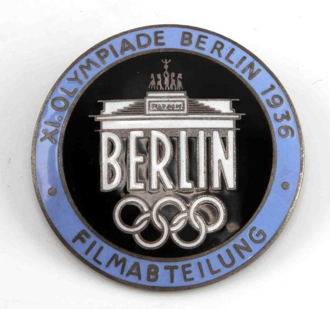 GERMAN WWII 1936 BERLIN OLYMPICS FILMMAKER BADGE