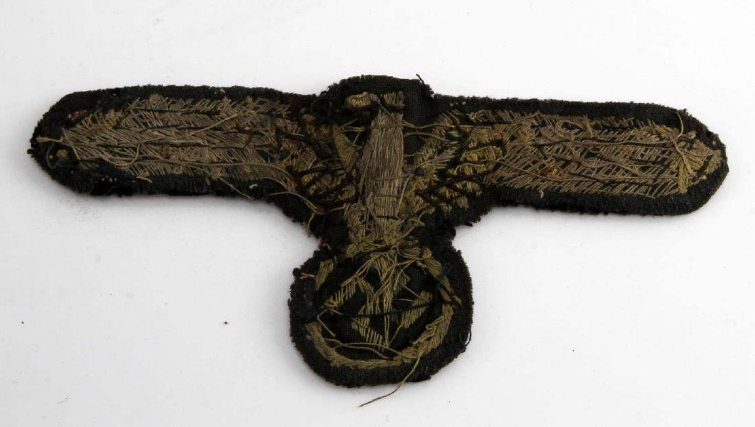 WWII GERMAN 3RD REICH ARMY GENERAL CAP EAGLE BADGE - 2
