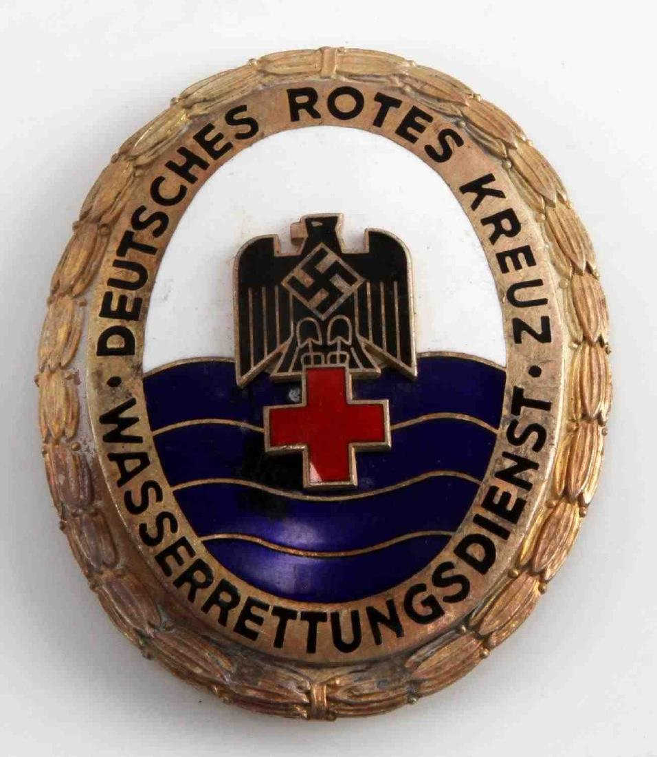 WWII THIRD REICH RED CROSS WATER RESCUE BADGE
