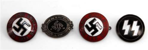 GERMAN WWII THIRD REICH BADGES NSDAP & WAFFEN SS