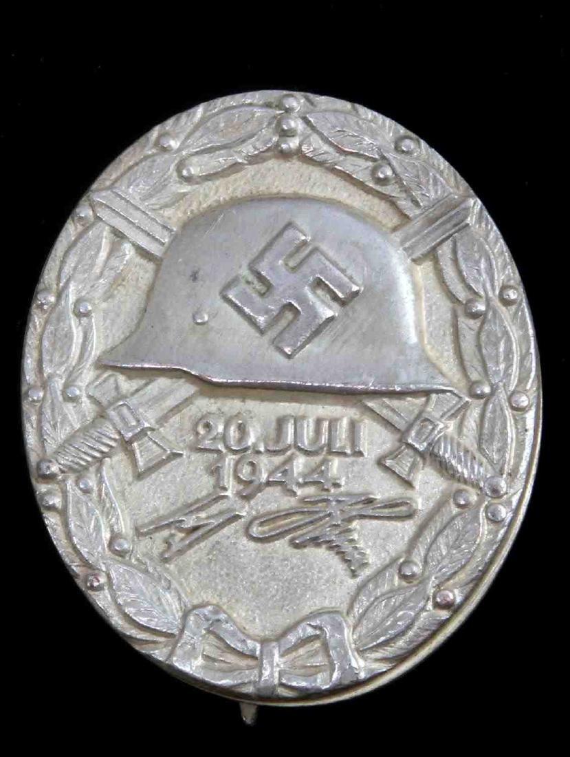 WWII GERMAN THIRD REICH SILVER 1944 WOUND BADGE