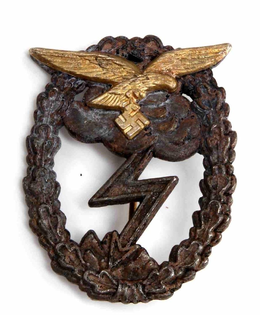 GERMAN WWII LUFTWAFFE GROUND ASSAULT COMBAT BADGE