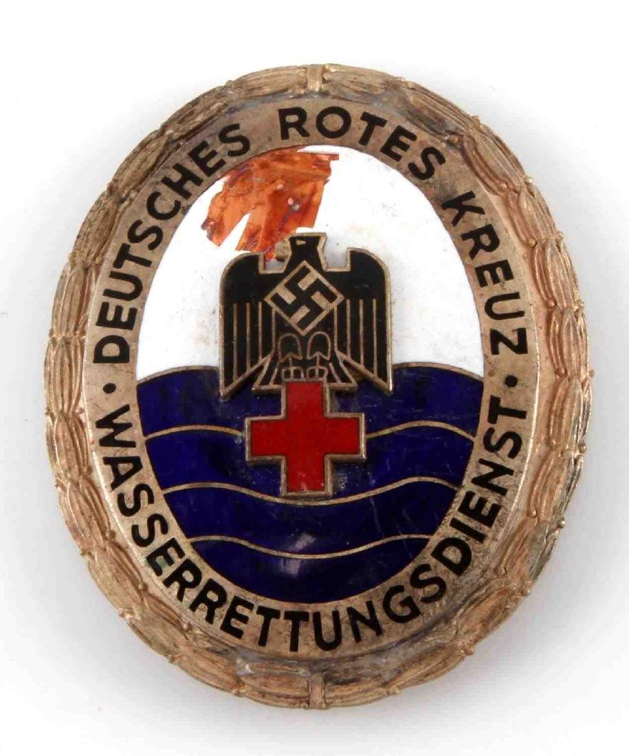 GERMAN WWII DEUTSCHES RED CROSS WATER RESCUE BADGE