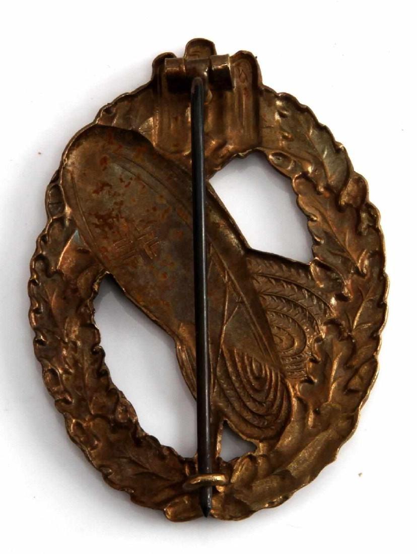 WWII GERMAN THIRD REICH HEER GOLD BALLOON BADGE - 2
