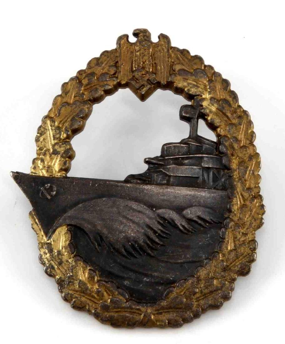 GERMAN WWII NAVAL DESTROYER BADGE