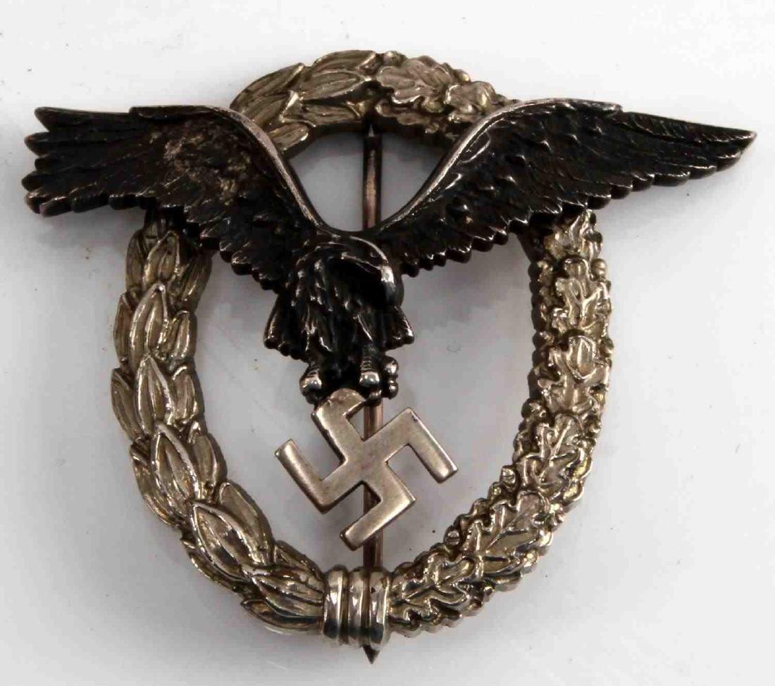 WWII GERMAN THIRD REICH LUFTWAFFE PILOT BADGE